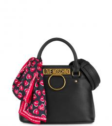 Love Moschino Black Scarf Small Satchel