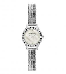 BCBGMaxazria Silver Mother Of Pearl Watch