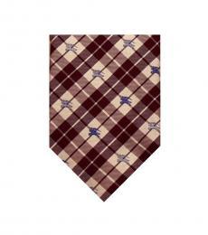 Burberry Cherry White Plaids Tie
