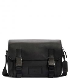 Coach Black Track Medium Messenger Bag