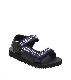 Versace Jeans Couture Blue Signature Trek Sandals