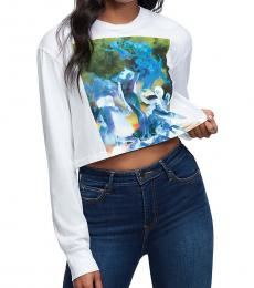 True Religion White Venus Crop Tee