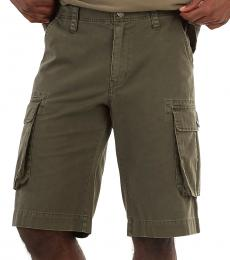 True Religion Olive Cargo Shorts