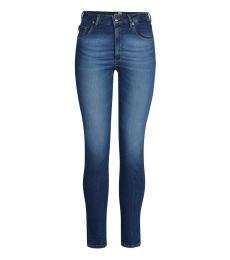 Love Moschino Blue Low Rise Soild Jeans