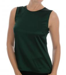 Dark Green Sleeveless Top
