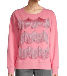 Marc Jacobs Pink Tassel Cotton Sweater