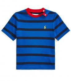 Ralph Lauren Baby Boys Pacific Royal Striped Jersey T-Shirt