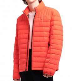 DKNY Orange Cannon Packable Quilted Jacket