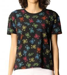 Moschino Black Allover Logo T-Shirt