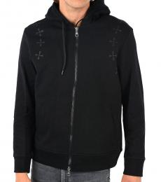 Neil Barrett Black Hooded Printed Sweatshirt