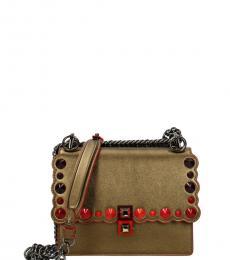 Fendi Gold Kan I Small Shoulder Bag