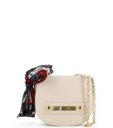 Love Moschino White Scarf Mini Crossbody