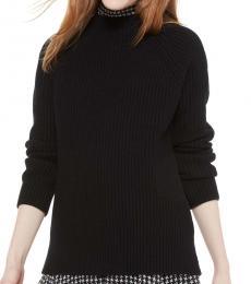 Black Raglan Turtleneck Sweater