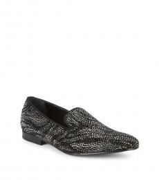 Roberto Cavalli Black Embellished Loafers