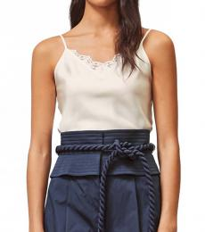 Tory Burch White Lace Pieced Cami