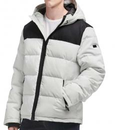 DKNY Ice Contrast Puffer Coat