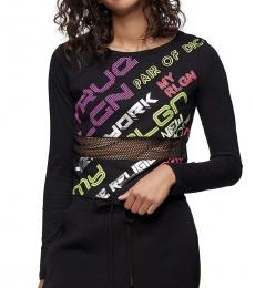 True Religion Black Long Sleeve Graphic Shirt