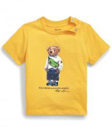 Ralph Lauren Baby Boys Slicker Yellow Fanny Pack Bear T-Shirt
