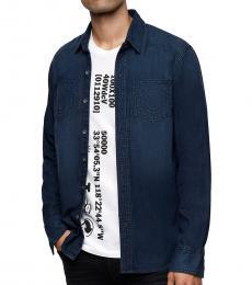 True Religion Greatest Blue Denim Shirt