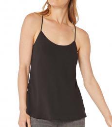BCBGMaxazria Black Chiffon Drapey Camisole Top