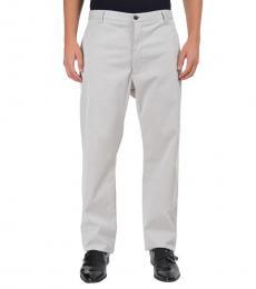 Armani Collezioni Grey Straight Leg Casual Pants