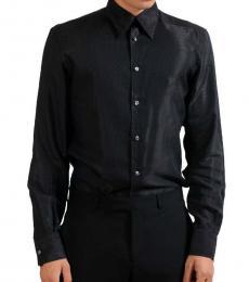 Grey Geometric Pattern Shirt