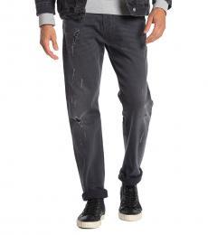 Black Denim Belther Distressed Slim Jeans