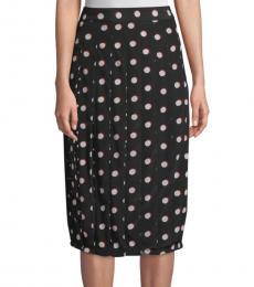 Marc Jacobs Black Polka Dot Knee-Length Skirt