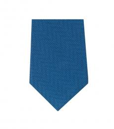 Blue Timeless  Chevron Slim Silk Tie