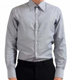 Versace Collection Grey City Cotton Shirt