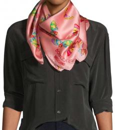 Moschino Pink Butterfly-Print Scarf
