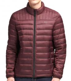 DKNY Oxblood Packable Quilted Jacket