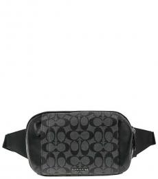 Coach Charcoal Signature Graham Waist Bag