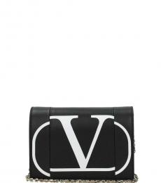 Valentino Garavani Black Logo Mini Crossbody