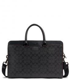 Coach Black Beckett Structured Large Briefcase Bag
