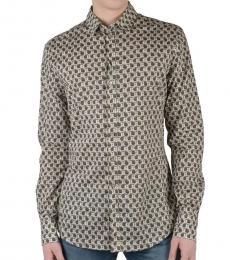 Dolce & Gabbana Multicolor Sicilia Long Sleeve Dress Shirt