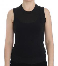 Dolce & Gabbana Black Solid Sleeveless Top