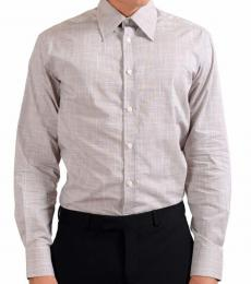 Versace Collection Grey City Check Dress Shirt