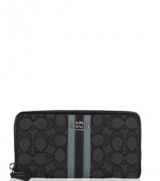Coach Black Accordion Stripe Wallet