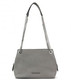 Michael Kors Pearl Grey Jet Set Chain Medium Shoulder Bag