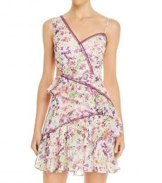 BCBGMaxazria Botanical Floral Floral Tiered Party Dress