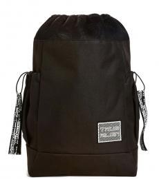True Religion Black Solid Medium Backpack