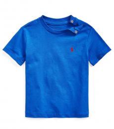Ralph Lauren Baby Boys Sistine Blue Crewneck T-Shirt