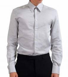 Versace Collection Light Grey Cotton Shirt