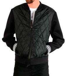 Neil Barrett Black Quilted Sweatshirt
