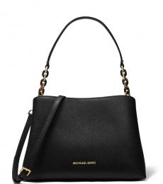 Black Sofia Large Shoulder Bag