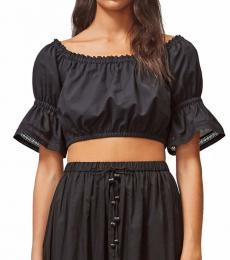 Tory Burch Black Embroidered Top