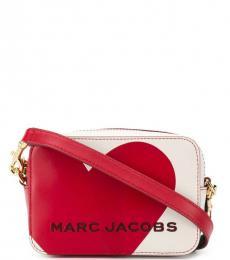 Marc Jacobs White Heart Logo Small Crossbody