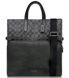 Coach Charcoal Black Graham Large Tote