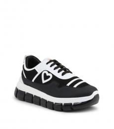 Love Moschino Black White Classic Sneakers